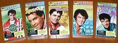 Set of 5 Elvis Presley Films on VHS Tape-All Brand New - Spinout, Clambake, etc