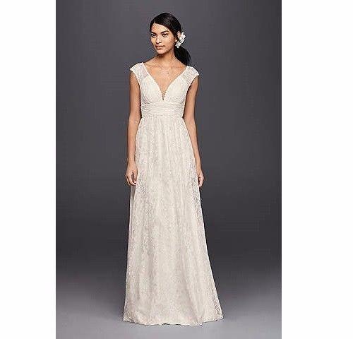 Lace Sheath Wedding Dress with Illusion Cap Sleeve