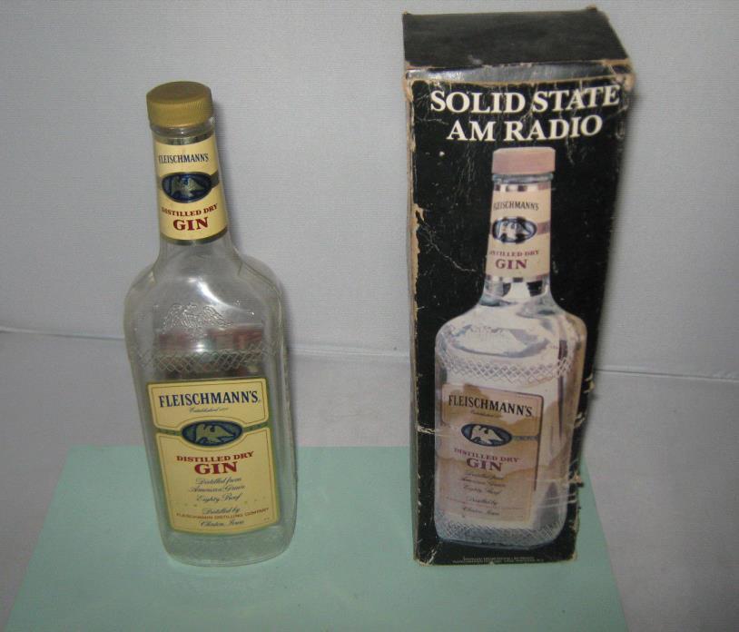 Fleischmann's Gin bottle am novelty radio
