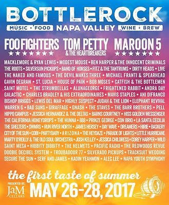 2 Bottle Rock Napa Valley GA Wrist Bands for Sunday Foo Fighters