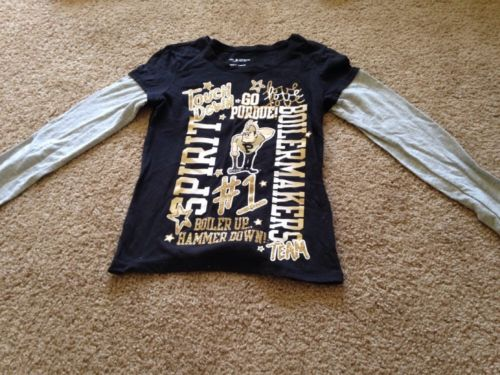 Purdue Girls Shirt Size 12 5th & ocean