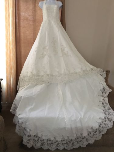 David's Bridal Wedding Dress Ivory 6P