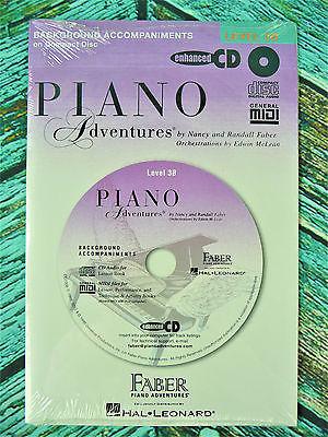 New! FABER PIANO ADVENTURES LEVEL 3B CD Background Accompaniments MIDI HL0420073