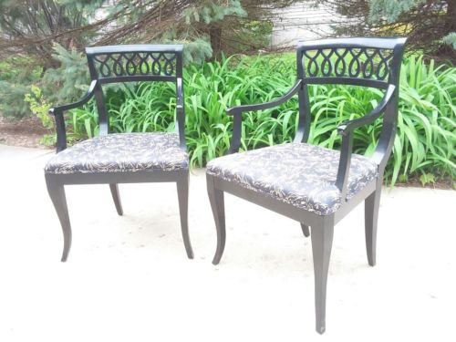Vintage Klismos Arm or Occasional Chairs style of Tommi Parzinger & Billy Haines