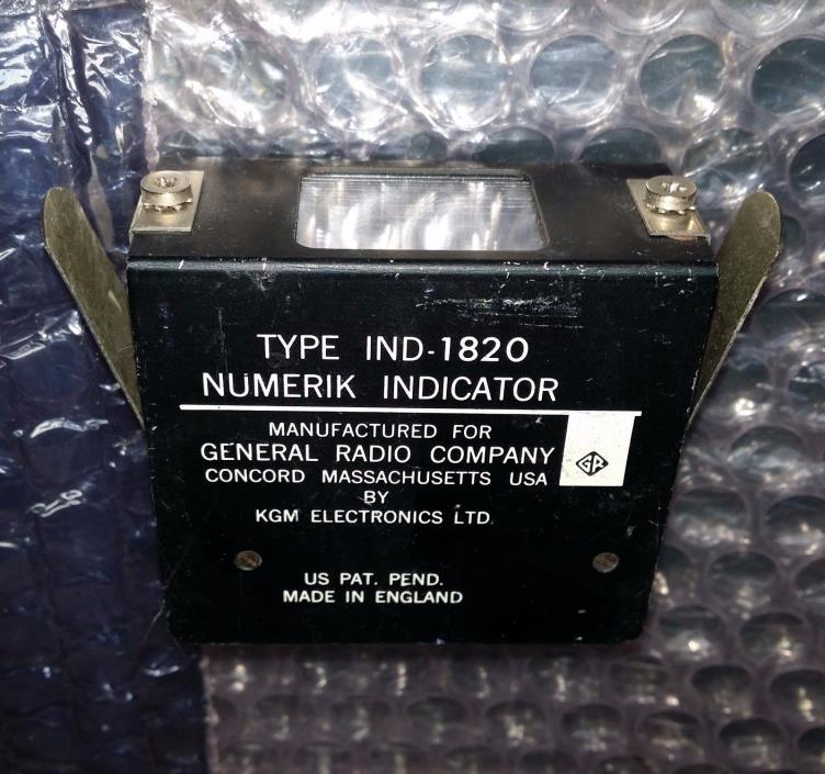 vintage One-Plane Readout GR General Radio IND-1820 nixie clock