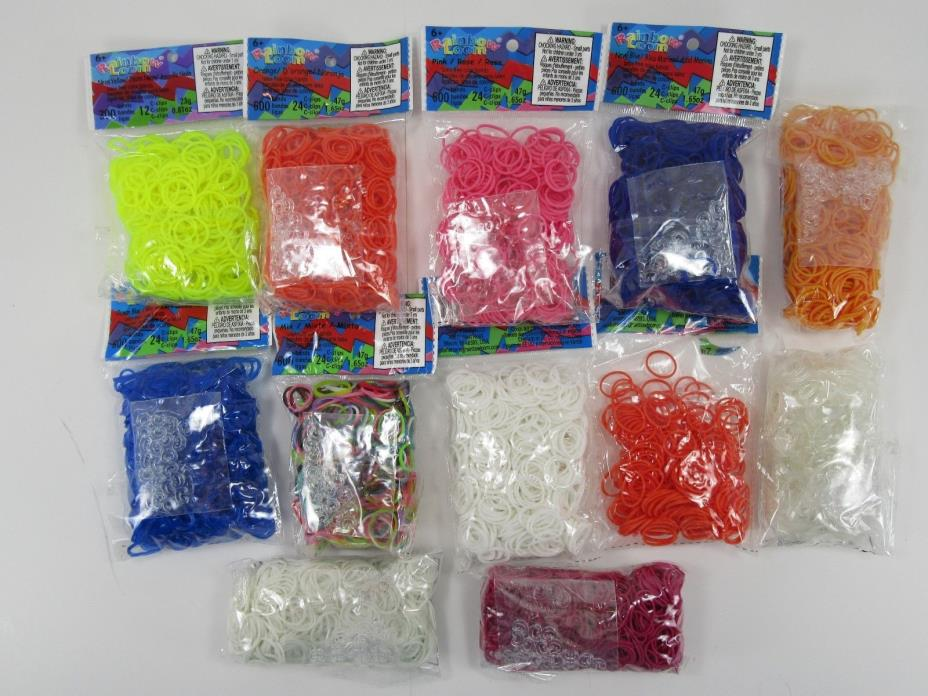 Rainbow Loom Bands NEW 12 sealed bags assorted colors