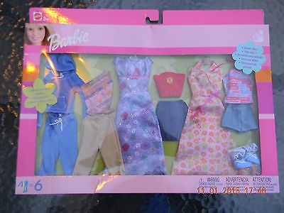 NEW!  Barbie Gift Set,  6 Outfits
