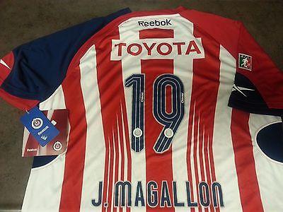 Reebok Chivas Guadalajara Mexico Original Jonny Magallon 19 Soccer Jersey Futbol