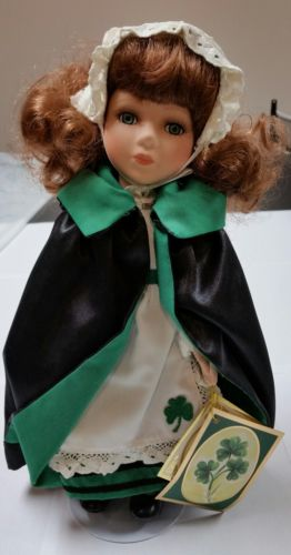 Vintage Alberon porcelin Irish collection Irish doll named Carmel 12 inches