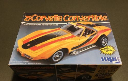 MPC 75 CORVETTE CONVERTIBLE SCALE 1:25 OPEN/USED J&E HOBBY