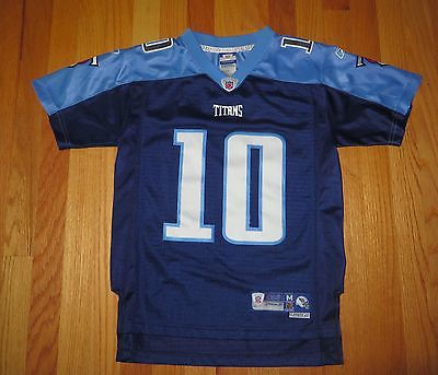 EUC YOUTH NFL REEBOK TENNESSEE TITANS VINCE YOUNG 10 FOOTBALL JERSEY MED 10 12 M