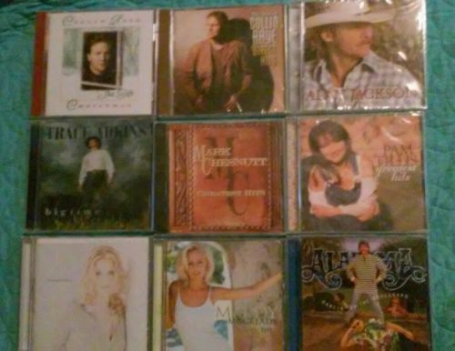 NEW Lot of 9 Country Music CDs Major Artists Great Selection #1 Adkins Raye +