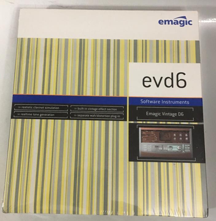 EMAGIC LOGIC 5.2 + EVD6 VINTAGE D6 HORNER  FUNKY CLAVINET MODULE WINDOWS MAC