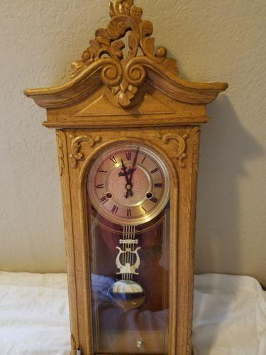 Vintage German Hanging Wall Clock (chime works)
