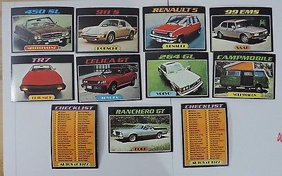 Topps Autos Of 1977 Trading Card Lot #3 (Including 2 Unused Checklists)