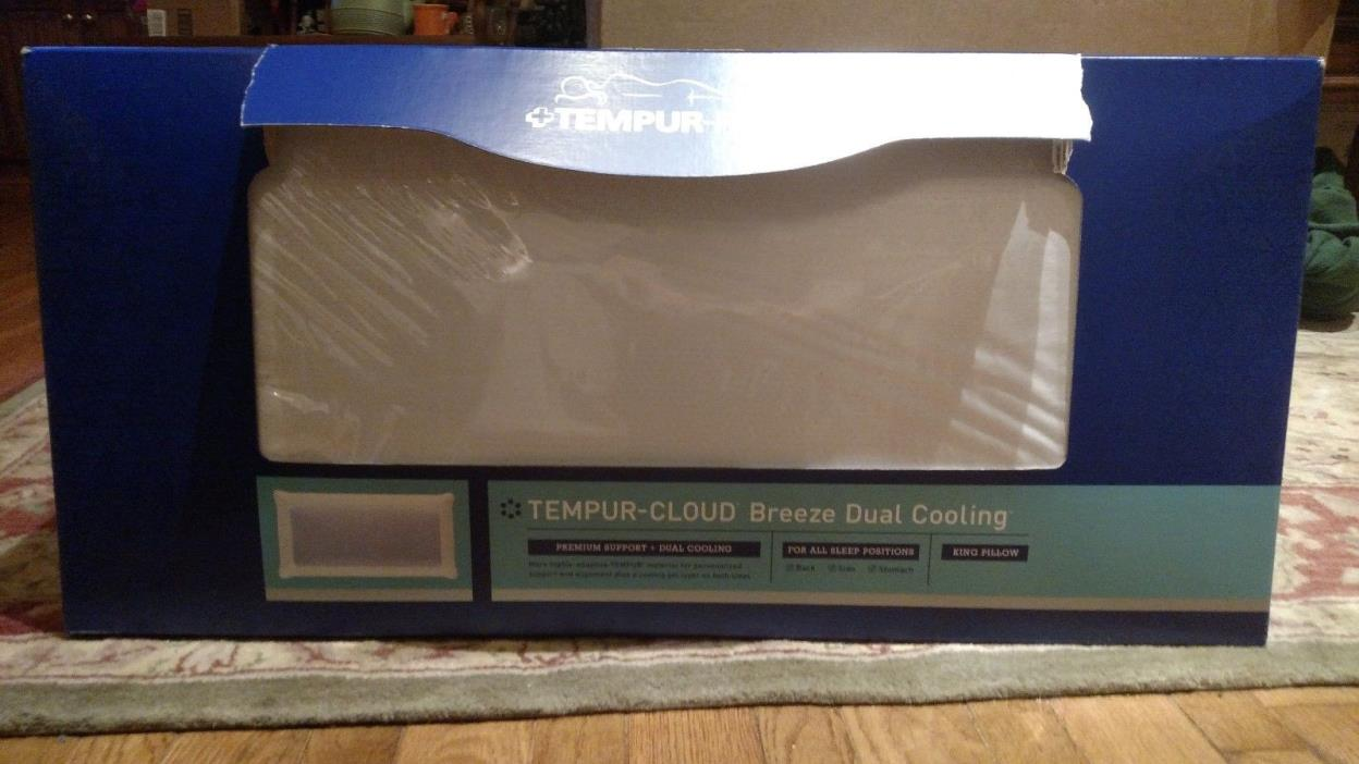Tempur-Pedic Tempur-Cloud Breeze Dual Cooling King Pillow New
