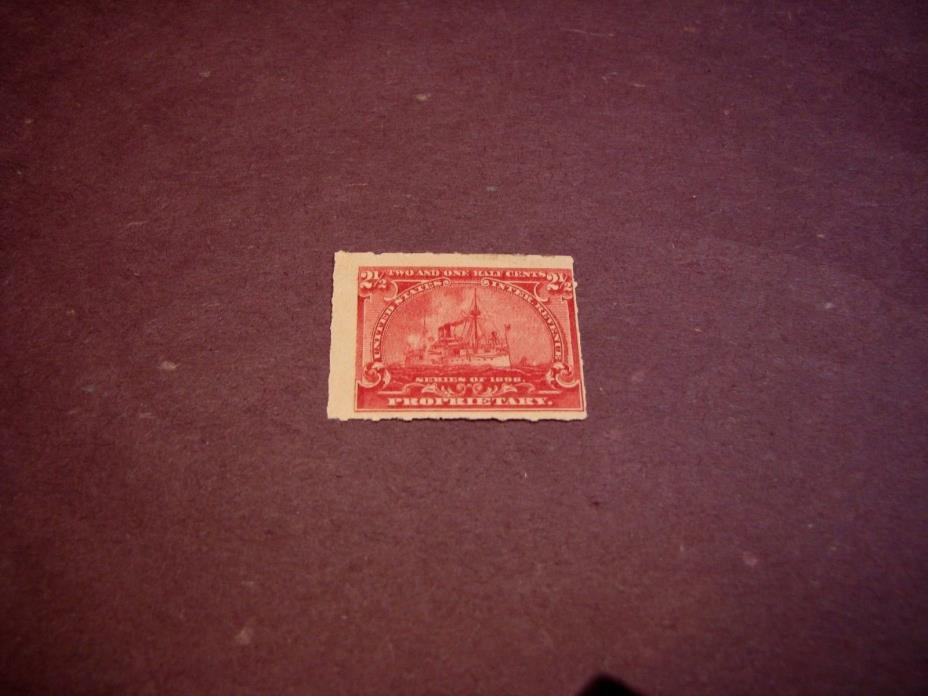 US Stamp Back of Book Scott# RB28 Battleship 1898 MH C223