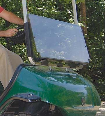 Yamaha Golf Cart Part Fold Down Clear Windshield G29/Drive 3/16