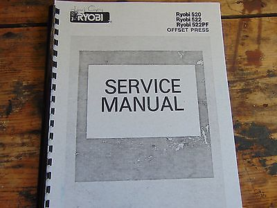 RYOBI OFFSET PRESS SERVICE MANUAL