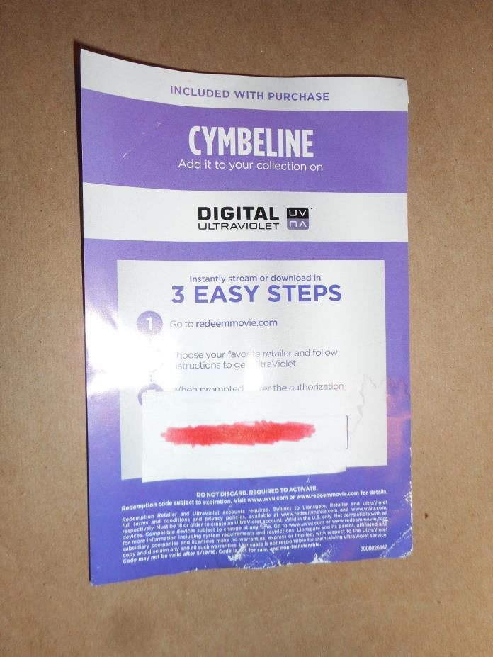 Cymbeline (2014) Digital Code