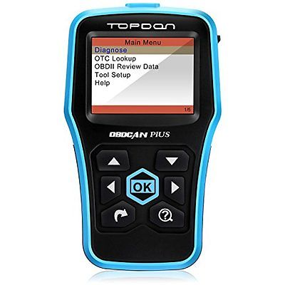 Car Emissions Analyzers Code Reader, Topdon OBD2 Scanner Car Computer Diagnostic