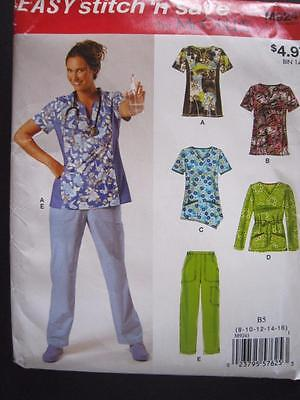 MCCALLS 9241 MISSES SCRUBS TOPS AND PANTS PATTERN SIZES 8,10,12,14,16 -  UNCUT