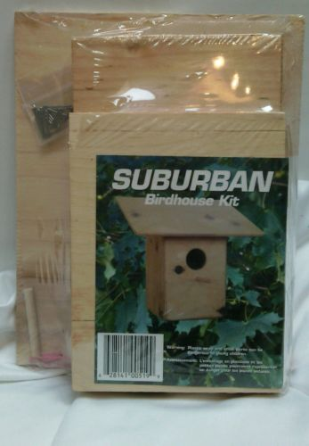 Suburban Wood Wooden Birdhouse Kits NEW/SEALED