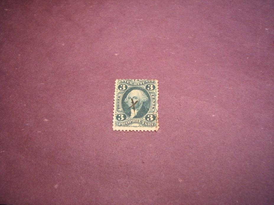 US Stamp Back of Book Scott# R18 Proprietary 1862-71 C222