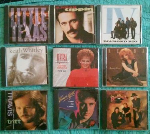Lot of 9 Country Music CDs Major Artists Great Selection #5 w/ REBA 3 CD SET