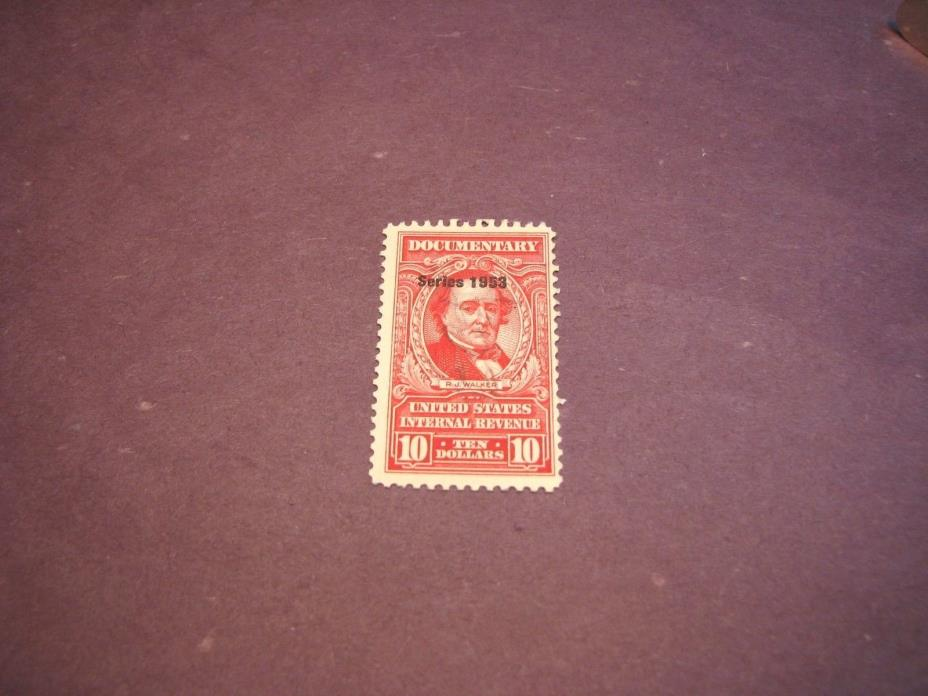 US Stamp Back of Book Scott# R643 Walker 1953 C223