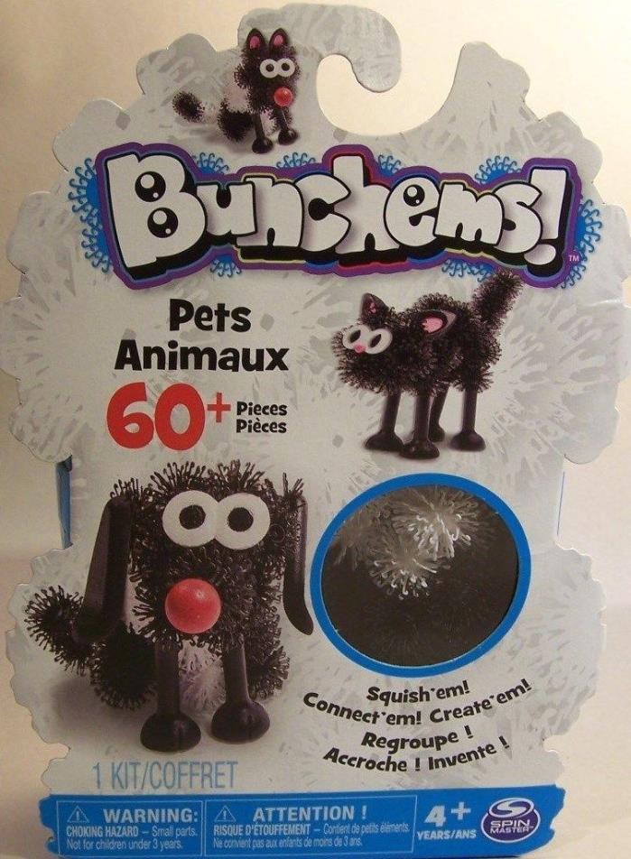 Bunchems Pets Animaux  60 pcs set Tactile Craft Activity