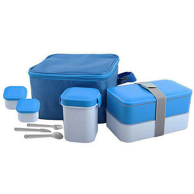 NEW Cookinex 17PC Lunch Box Set (Bue) FL90B