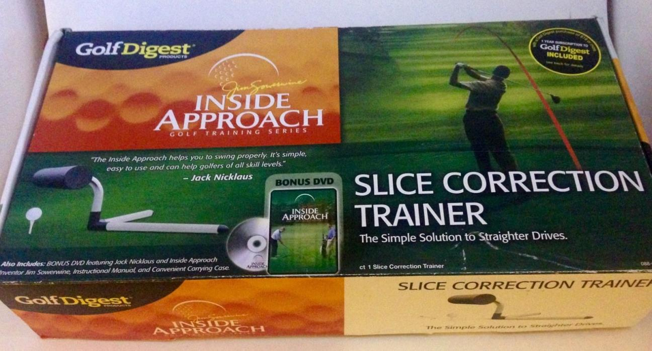 Inside Approach SLICE CORRECTION TRAINER Jim Sowerwine GOLF Swing Trainer w/ DVD