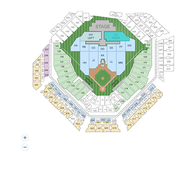 LUKE BRYAN Tickets Citizens Bank Park 9/8~PIT LEFT, ROW GA~GET TO FRONT OF STAGE