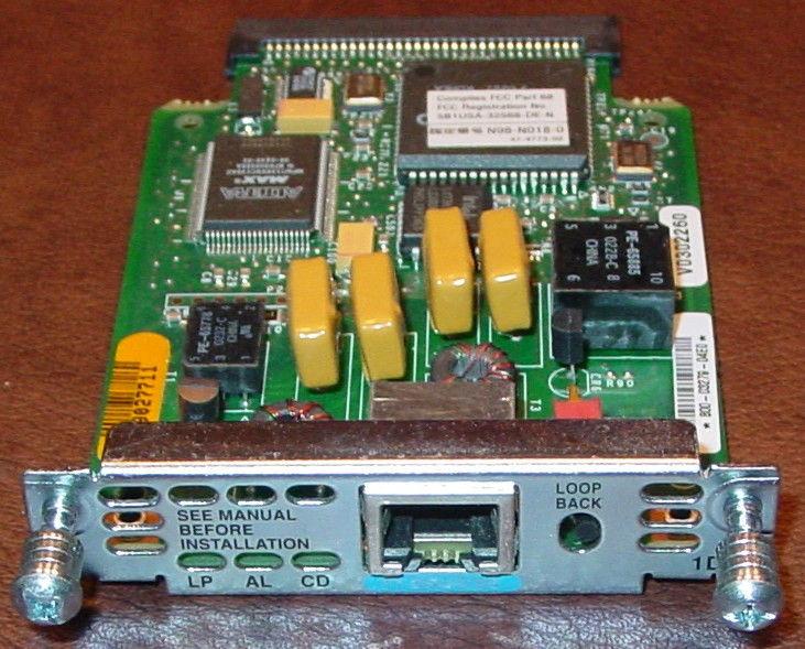4 Genuine Cisco WIC-1DSU-T1 DSU/CSU 3600 2600 1700 1600 with NM-2W Module