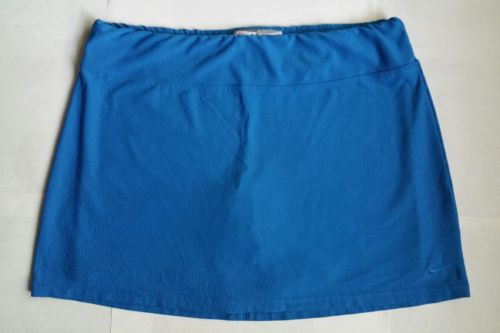 Nike Fit Dri Tennis Golf Skort Skirt Womens Size Large Attached Shorts Turquoise
