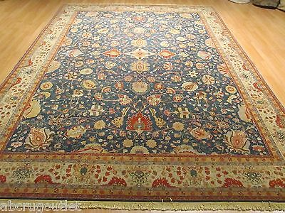 9x12 Museum Persian Tabriz  Vegetable Dye Handmade-knotted Wool Rug 581372