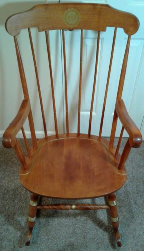 Nichols & Stone Pennsylvania State 1855 Maple Windsor Style Boston Rocking Chair