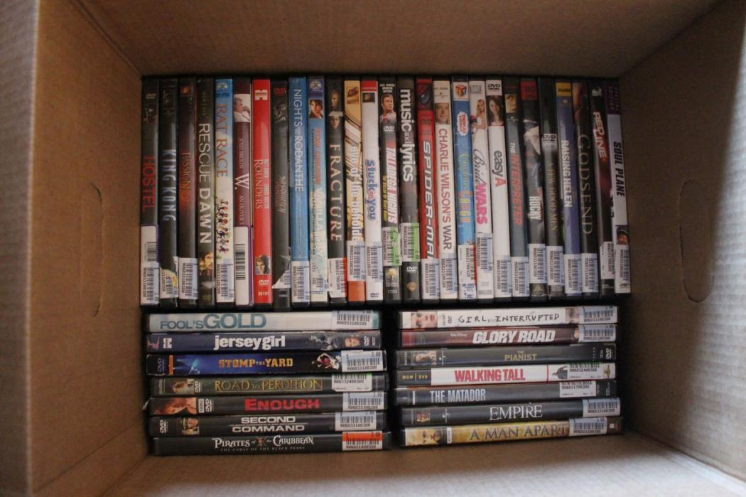Wholesale Lot - 75 Assorted DVD Bulk mainstream studio comedy action drama