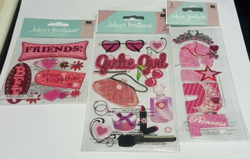 jolee's boutique lot of 3 girl themed scrapbooking stickers