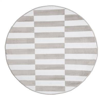 Checkered Stripes Round Area Rug [ID 3515651]