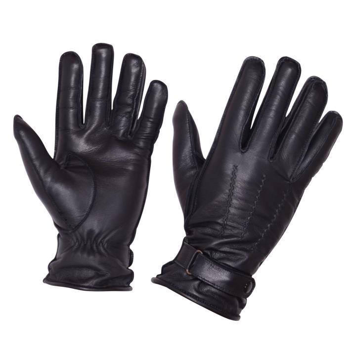 Men Cold Weather Dress Gloves Genuine Leather Driving Gloves Black