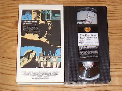 The Man Who Saw Tomorrow (VHS, 1988) Nostradamus Warner Home Video RARE