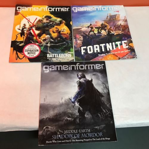 Game Informer Magazines Issues Lot Gamer Cheat Sheets Paperback Games Gamer