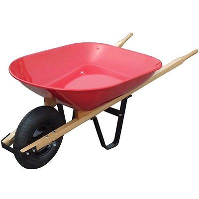 United Wheelbarrows General WH89685 Steel Tray Wheelbarrow, 4 Cubic-Feet 20