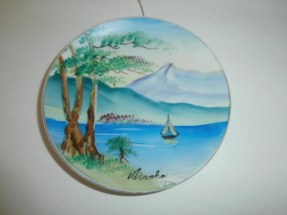 Antique Japanese Porcelain Plate Dish 5 1/2
