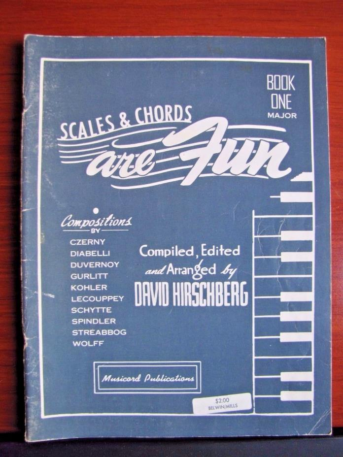 Scales & Chords are Fun Book One Major by Hirschberg- 1948 PB- Piano instruction