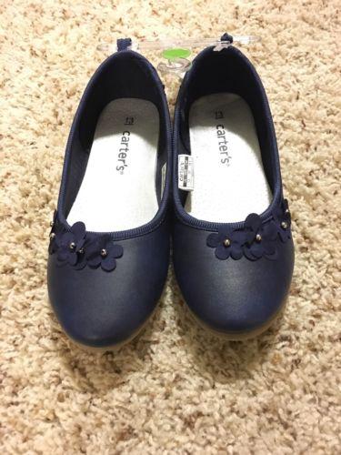 Carter's Navy Blue Ballet Flats Girls Size 13 NWT