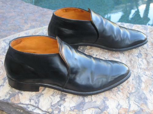 Vintage Knapp Mod Slip-on Ankle Boots Loafers Dress Shoes USA Sz 10 E