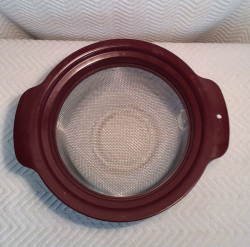 Burgundy BOIL & STEAM BASKET for VISION 2.5L Rangetop Use